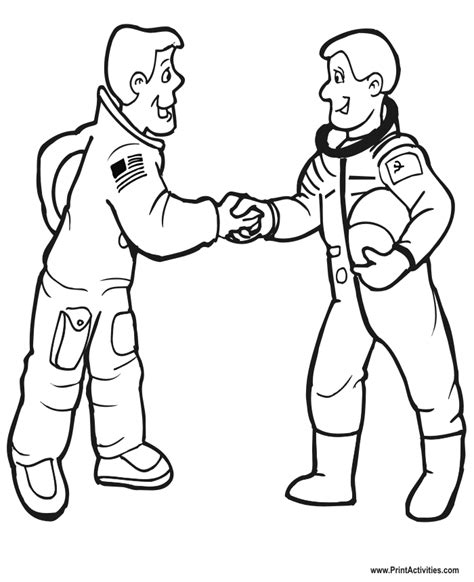 coloring page shaking hands astronaut coloring page 2 astronauts shaking hands