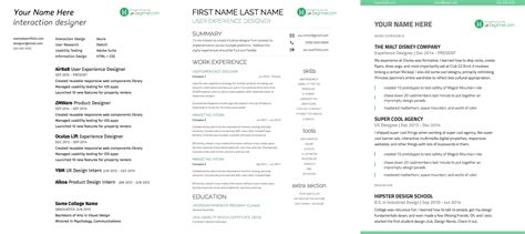 ux resume template complete guide to ux resumes 3 free templates ux beginner