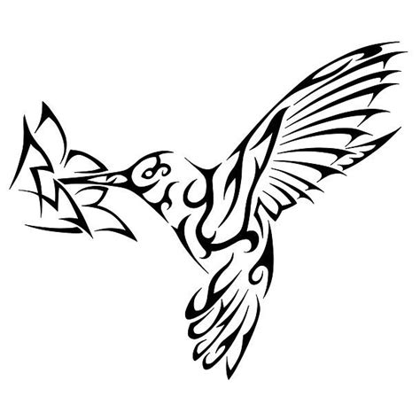 hummingbird tribal tattoo designs tribal hummingbirds drawings
