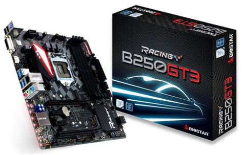 Biostar Racing B250gt3 Lga 1151b250ddr4 Support Kabylake biostar racing b250gt3 7th uefi desktop motherboard