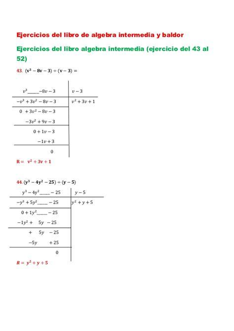 libro de algebra libro de algebra de baldor slideshare ejercicios del libro