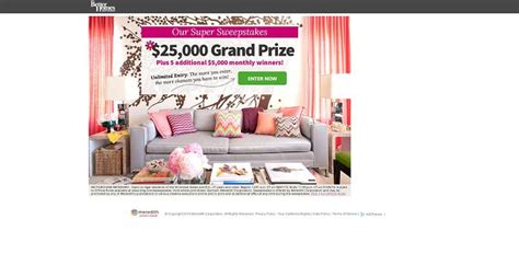 Sweepstakes Plus - bhg 50 000 sweepstakes 25 000 grand prize plus five 5 000 monthly winners