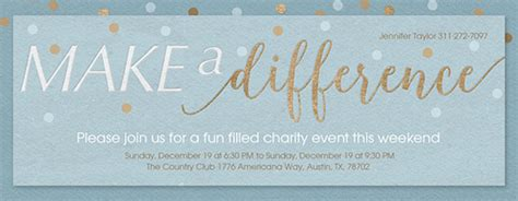 Fundraiser Save The Date Card Templates by Free Charity Fundraiser Event Invitations Evite
