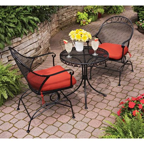Wrought Iron Patio Table Set Luxury 3 Pc Patio Bistro Set Balcony Bistro Set Patio Furniture