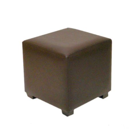 Brown Leather Cube Stool by Exhibition Brown Cube Leather Stool Hire Eventex