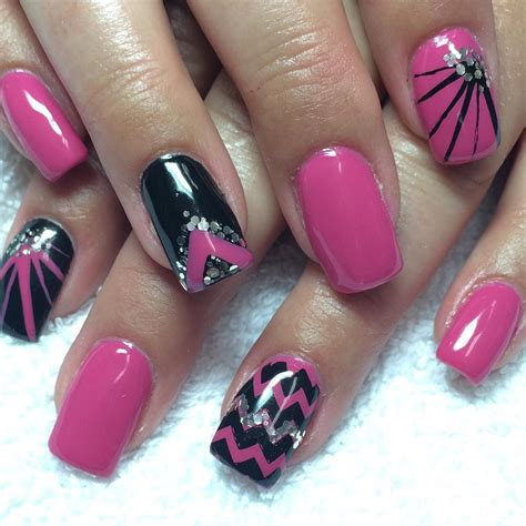 beautiful nail designs nail black and pink nail designs design trends premium psd