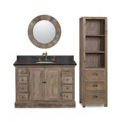 Bathroom Vanity With Linen Tower 48 Inch Marble Top Single Sink Rustic Bathroom Vanity With Matching Wall Mirror And Linen Tower