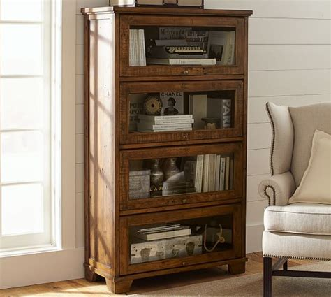 pottery barn bookcase hatton reclaimed wood bookcase pottery barn