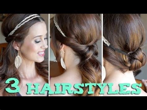 3 EASY Back to School Hairstyles Using a Headband!   YouTube