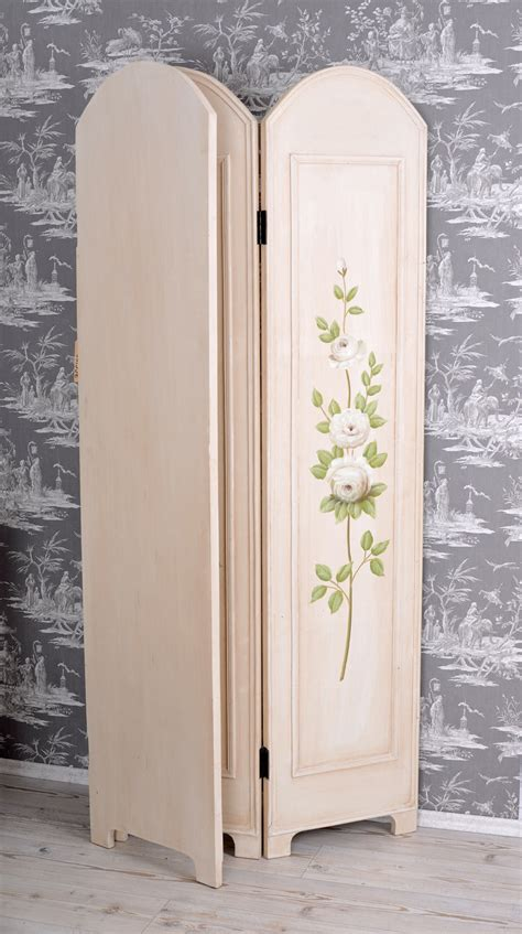 Blinds Screen Rose Painting Vintage Room Divider Shabby Shabby Chic Room Dividers