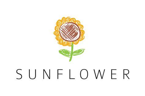 sunflower logo template  behance