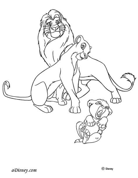 lion pride coloring pages dibujos para colorear de el rey leon 2 el tesoro de simba