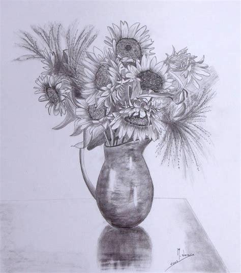 imagenes de jarrones a lapiz jarr 243 n de girasoles mercedes lacasa artelista com