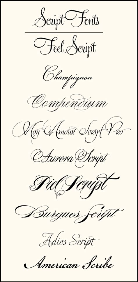 Wedding Font Cursive by Wedding Font Combinations