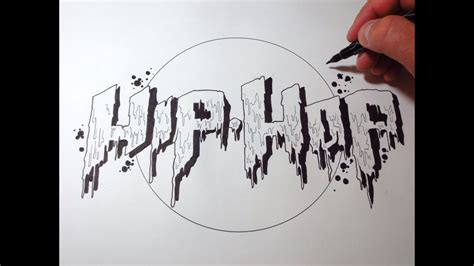 draw hip hop dripping letters youtube
