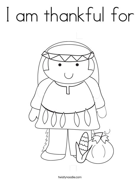 i am thankful coloring page sketch coloring page