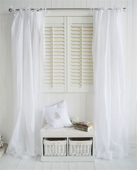monogram window curtains white voile curtains with tie fastenings large images