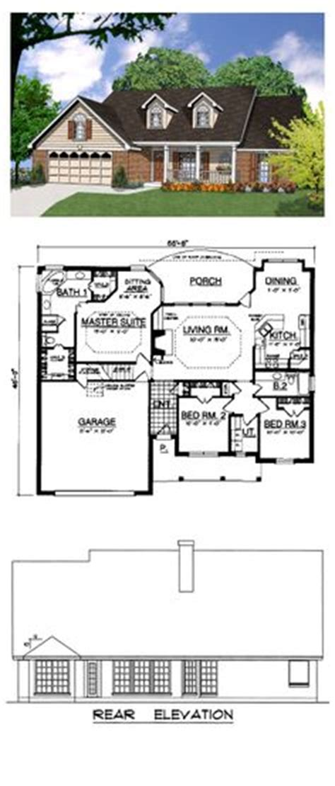 cool ranch house plans ranch style cool house plan id chp 17118 total living