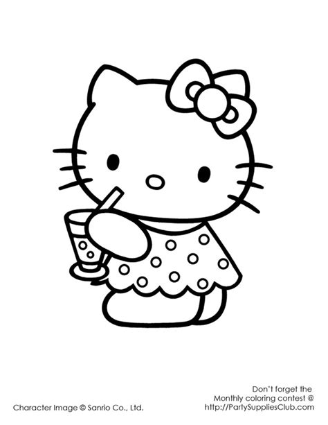 hello kitty happy birthday coloring page free hello kitty happy birthday coloring pages