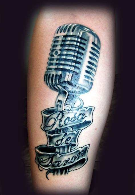 microphone tattoos microphone drawing www imgkid the image kid