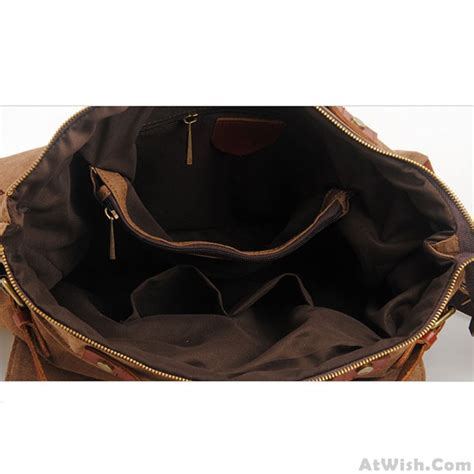 Fashionable Leather Retro Splicing Black - retro large capacity travel handbag thick canvas splicing