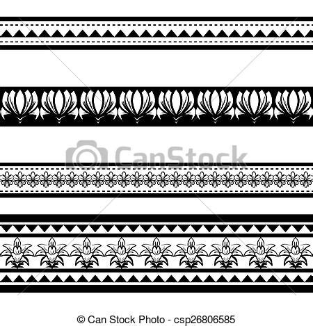 vector of illustration of black polynesian armband tattoo