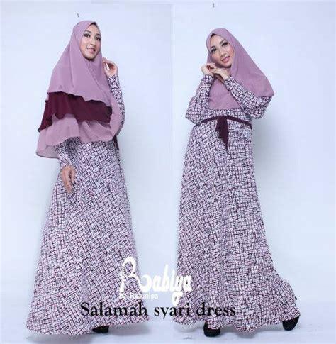 Terlaris Gamis Syari Vina Lavender Ungu Baju Gamis Pesta Mode Baju M salamah syar i baju muslim gamis modern