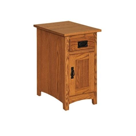 Mission Cabinets by Mission Cabinet Chairside Table Amish Mission Cabinet