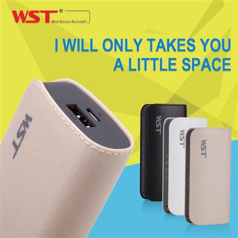 wst power bank 5200mah external battery pack mini portable