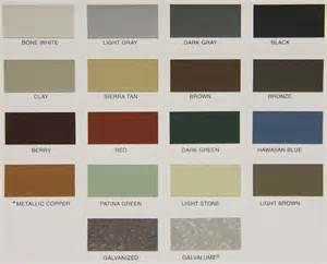 steel siding colors color options for metal siding