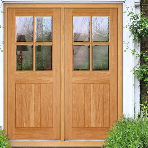 Cottage 4l Exterior Oak Double Door And Frame Set With Cottage Doors Exterior