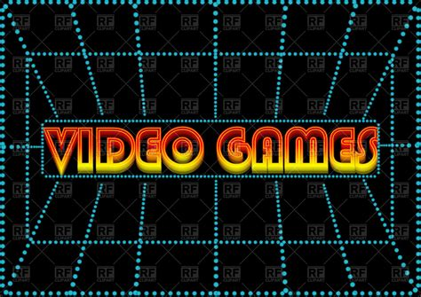 free download mod game vector video game glowing inscription on screen vector clipart