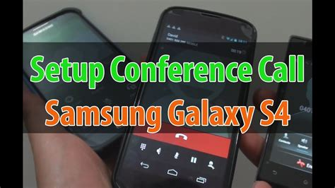 samsung galaxy s4 how to setup a conference call using call merge