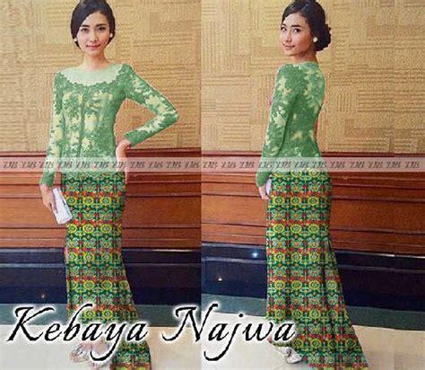 Baju Kurung Dari Bahan Brokat model gamis kebaya wisuda model gamis kebaya wisuda cantik ini dibuat dari bahan brokat lapis