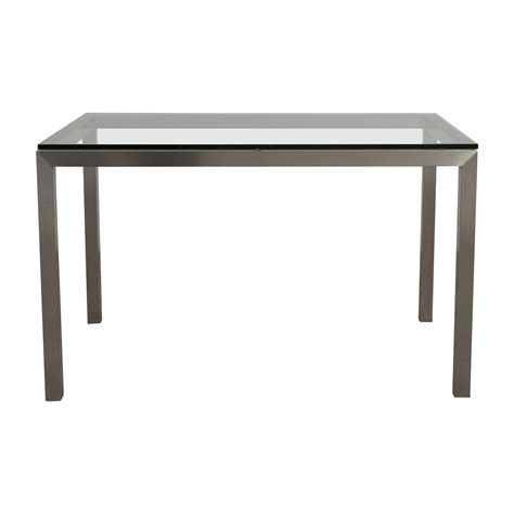 44 Off Crate And Barrel Crate Barrel Glass And Steel Dining Table