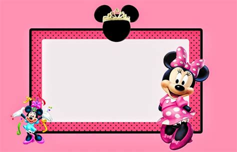 minnie mouse card templates minnie mouse in pink free printable invitations labels