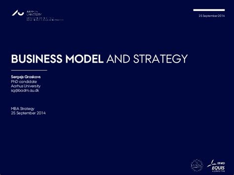 Corporate Strategy Mba by Business Model And Strategy