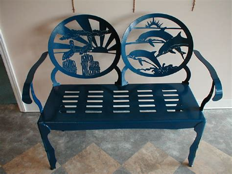 beach benches designs beach themed metal bench make your own metal designs with