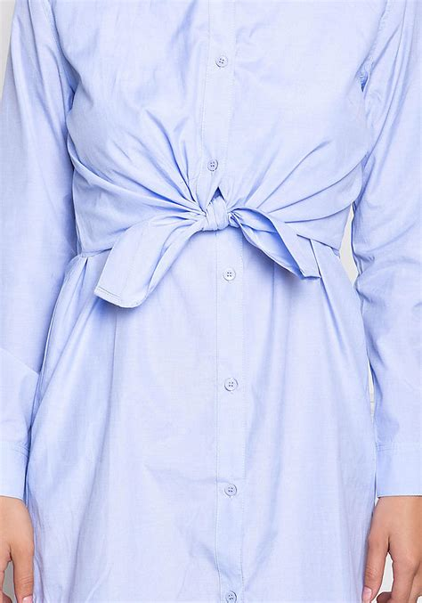 light blue collared dress light blue collared tie front shirt dress