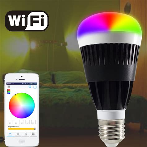 Free Shipping E27 10w Smart Rgb White Led Bulb Wifi Wifi Led Light Bulbs