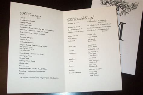 templates for wedding programs wedding program templates sle wedding programs