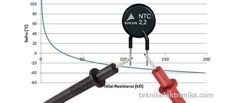 dioda ntc cara mengukur thermistor ptc dan ntc dengan multimeter