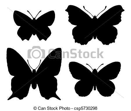 clipart farfalle vettore di farfalla silhouettecsp5730298 cerca clipart