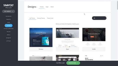 White Label Templates Simvoly Website Builder Youtube White Label Website Templates