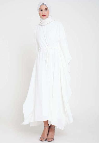 Gamis Remaja Warna Putih Tilan Model Gamis Muslim Warna Putih Paling Modis