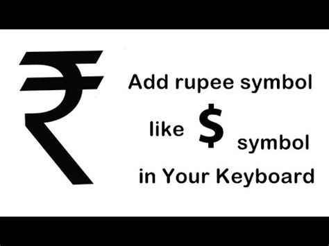 Collection Of How To Type Rupee Symbol In Keyboard Youtube Rupee