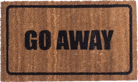 Funny Doormats go away black design coco mats coco mats n more