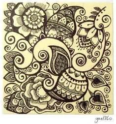 doodle hewan doodles on doodle zentangle and zentangles
