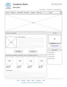 wireframe templates website design wireframe exles and templates