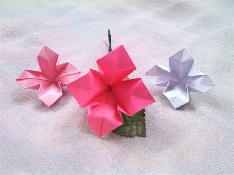 paper flower tutorial youtube paper flower origami paper crafts tutorial youtube